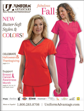 Uniform Advantage Fall 2015 Catalog - retailer of medical scrubs and nursing shoes