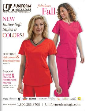 Uniform Advantage Fall 2015 Catalog - retailer of medical scrubs and nursing shoes