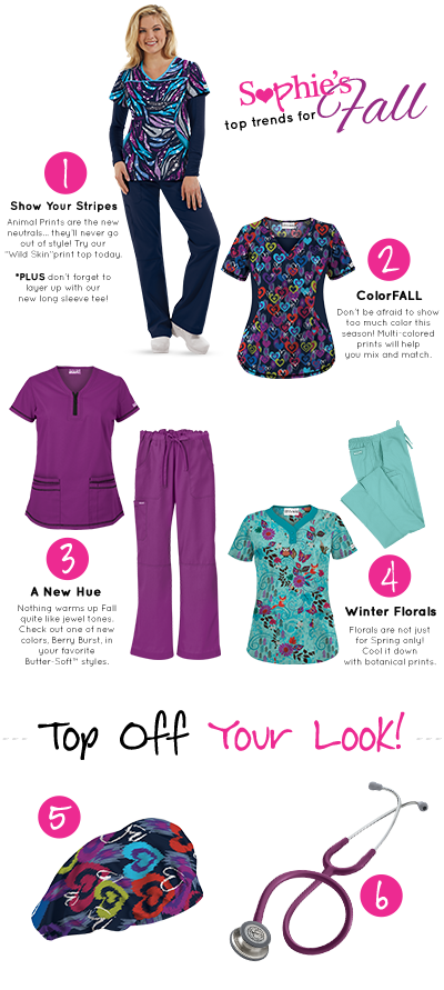 Sophie's Picks - Fall 2015 Trends for medical professionals