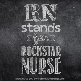 UA 2015 Nurse Meme - RN stands for Rockstar Nurse