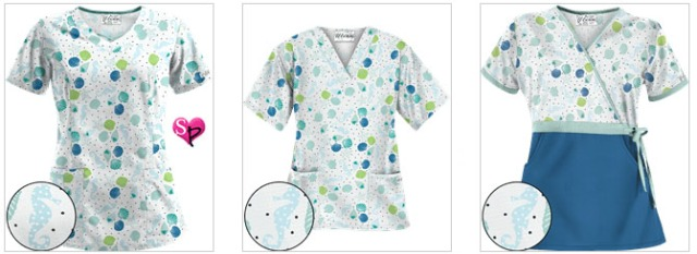 Day at the Beach Navy Scrubs