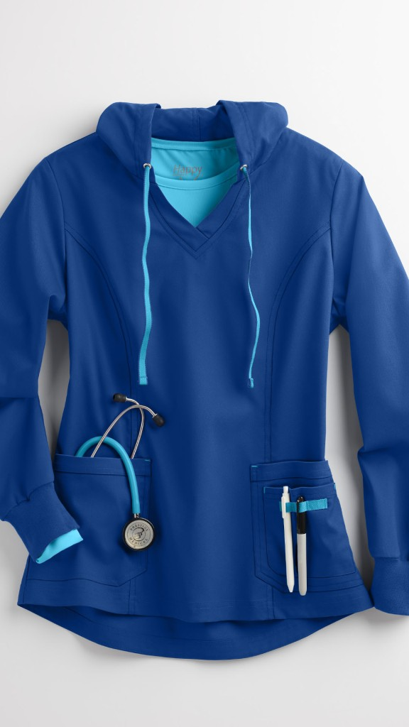 Happy Scrubs Heavenly Hoodie Scrub Jacket