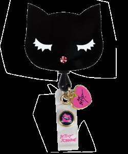 Betsey Johnson Cat Retractable ID Badge Holder