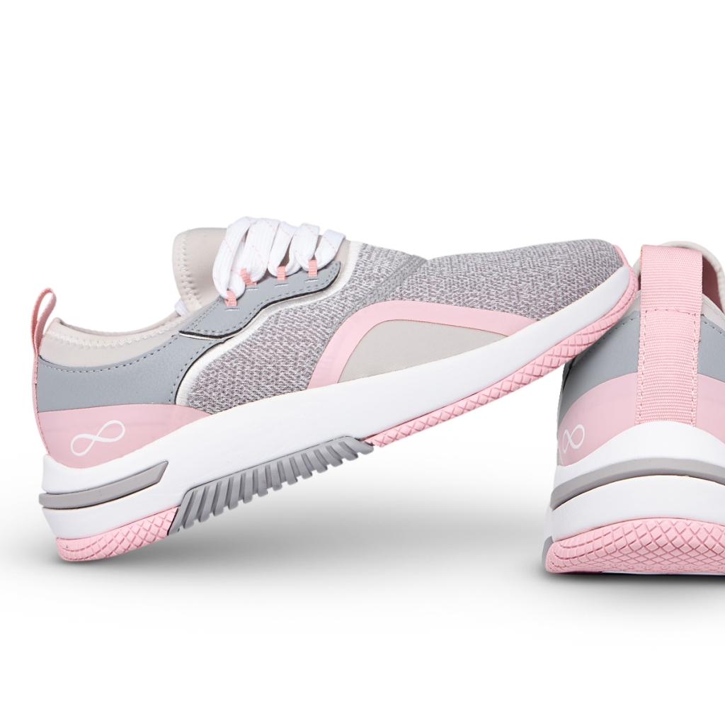 The Cherokee Infinity Dart PMPK Paloma/ Pink Dart Lace up Sneakers feature a mesh upper for increased breathability, a removable, latex-free polyurethane insole with arch support and heel cupping for stability and all-day comfort.