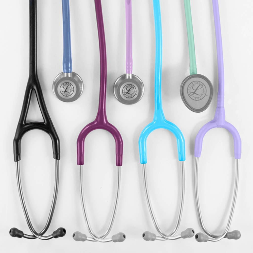 "This stethoscope has a two-sided chestpiece with tunable diaphragms on both the adult and pediatric sides. The tubing provides longer life due to its improved resistance to skin oils and alcohol. It's also less likely to pick up stains. The approximate length is 27""."