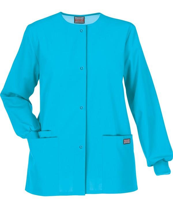 Cherokee Workwear Originals Snap Front Scrub Jacket
