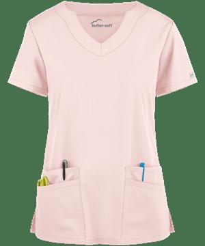 Butter-Soft Scrubs by UA™ Women's Scallop Neck Top