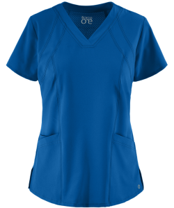 Barco One 4 Pocket V-Neck Scrub Top in Royal