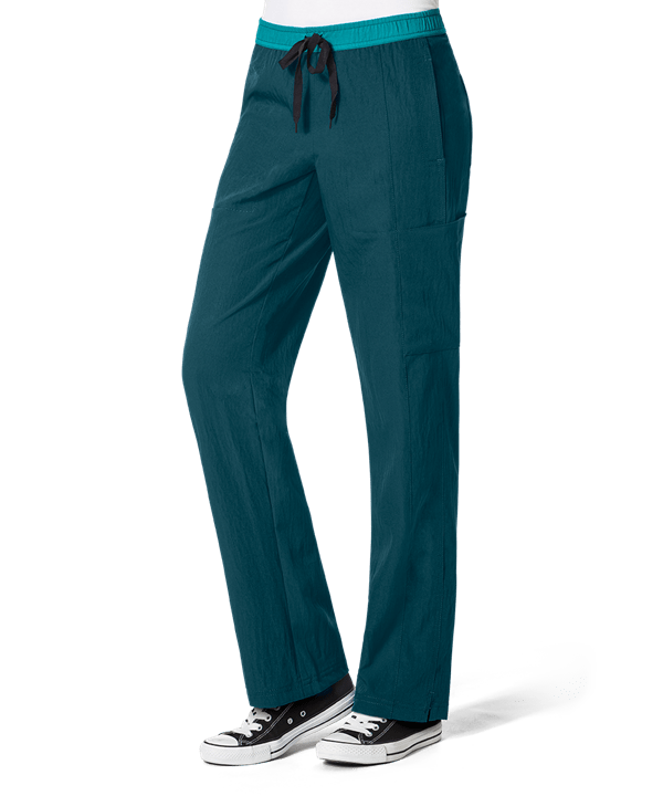 medical scrub pants in Caribbean Blue